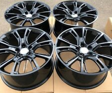 "SET OF FOUR 4 20"" x10"" WHEELS RIMS fit JEEP GRAND CHEROKEE SRT-8 STYLE BLACK NEW"