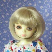 Imsco GLORY Pale Blond Full Cap Doll Wig Size 8-9 Medium Length Straight Bob