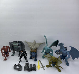 Gargoyles Action Figures Kenner 1995 Lot Of 7 With Some Accessories