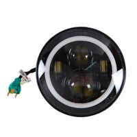 7 Inch Round LED Headlight Halo Angle Eyes For 97-2016 JK LJ TJ