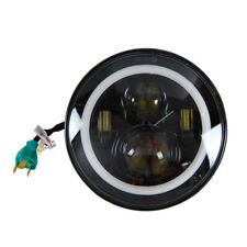 7 Inch Round LED Headlight Halo Angle Eyes For 97-2016 JK LJ TJ