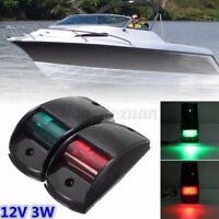 Touring Car Navigation Lights Port/Starboard Black Housing Boat LED Lamp Black