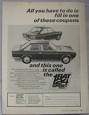 1967 Fiat 124 Sport Coupe Original advert