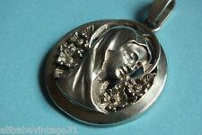 Médaille ancienne en Argent   Ste VIERGE /  ART NOUVEAU  Antique s.silver medal