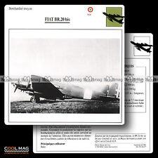 #064.07 FIAT BR 20 BIS Bombardier - Fiche Avion Airplane Card