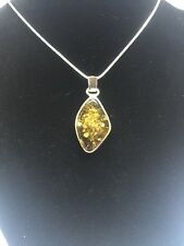 Baltic Amber  925 Sterling Silver Pendant New