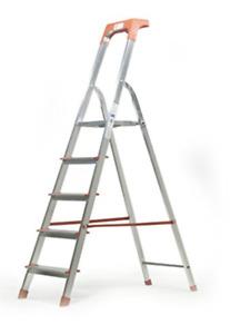 Scala alluminio 3 4 5 6 7 8 gradini portata 150 Kg libretto EN131 Made in Italy