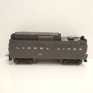 Vintage Lionel Trains 234W Whistle Coal Tender Lines Black USA HTF
