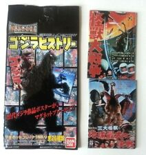 ORIGINAL BANDAI 2 PC MAGNET SET MONSTER ZERO GHIDORAH 3 HEADED MONSTER Godzilla