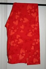 LuLaRoe - Leggings - Valentine Red w/ pink Hearts - One Size - NEW with tags