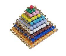 New Montessori Mathematics Material - Coloured Bead Squares
