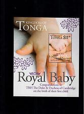 Tonga 2013 MNH Royal Baby 1v S/S Birth Prince George William Kate Duke Cambridge