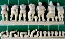 Milicast FIG034 1/76 Resin WWII Seven German Drivers in Various Uniforms