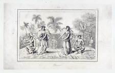 Tahiti-Polinesia-oceanía-baile - Danse-Dance-etnología-acero clave 1836