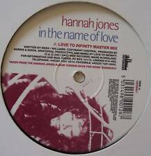 "HANNAH JONES ~ In The Name Of Love ~ 12"" Single"