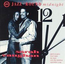 Jazz 'Round Midnight: Sarah Vaughan by Sarah Vaughan (CD, Jun-1992, Verve)