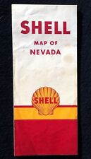 Vintage Shell Oil Map of Nevada