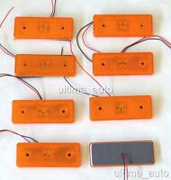8 pcs 12V 4 LED Side Marker Orange Amber Lights for Iveco Mercedes Fiat Renault