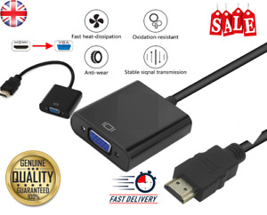 HDMI INPUT to VGA OUTPUT HDMI to VGA Converter Adapter for PC DVD TV Monitor UK