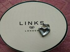 LINKS OF LONDON THUMBPRINT HEART CHARM IN GOOD CONDITION