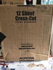 Aurora Paper Shredder Heavy Duty 12 Sheet Cross Cut Ultra Quiet Anti-Jam New