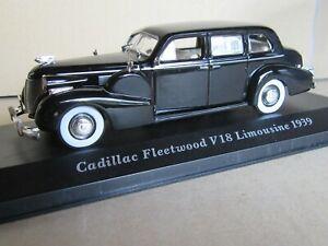 67N IXO Cadillac Fleetwood S75 V18 Limousine 1939 Black + Box 1:43