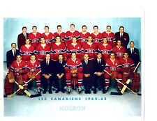 1962 1963 MONTREAL CANADIENS 8X10 TEAM PHOTO HOCKEY NHL CANADA