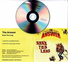 THE ANSWER Gone Too Long 2015 UK 2-track promo test CD