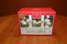 "Lenox China Holiday Archive 5"" Candlestick Holders Nib"