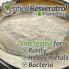 10 grams PlantPills Micronized Trans-Resveratrol Powder >99% Certified Purity