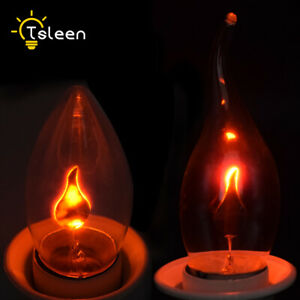 Retro Edison Dynamic Flame Effect Candle Bulb E27 220V Simulation Fire Light 94