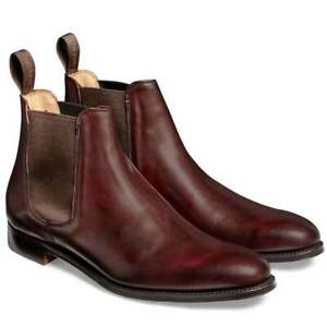Mens Handmade Boots Brown Leather & Suede Ankle Chelsea Formal Casual Wear Shoes