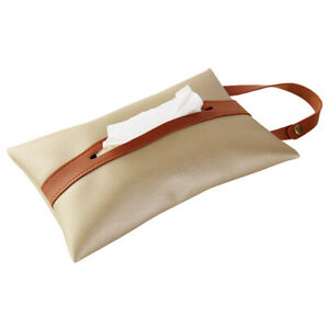 PU Leather Tissue Box Covers Rectangle Home Car Storage Case Napkin Dispenser