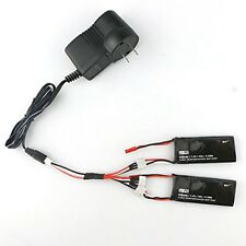 2PCS 7.4V 15C 610mAh Battery with Charger Set for Hubsan H502S X4 RC Quadcopt US