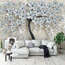 Vlies Fototapete Baum 3D BLUMEN Abstrakt Kunst Ausblick Pflanzen Wohnzimmer XXL