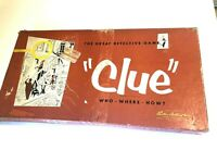 Vintage 1956 Clue Board Game  COPYRIGHT 1949 Parker Brothers  MISSING LEAD PIPE