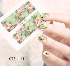 Nail Art Nageldesign Water Transfer Nagel Sticker Full Cover Blume STZ-111