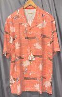 Tommy Bahama Men's 2XL 100% Silk Pink Nautical Print BF SS EUC Hawaiian Shirt!