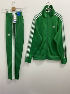 Adidas Originals Adicolor Classics Firebird Tracksuit Green White Size L
