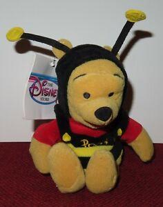 "Walt Disney Store And Parks Mini Bean Bag Plush Bumble Bee Winnie The Pooh 8"""