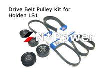 OPTIBELT DRIVE BELT PULLEY SET FOR HOLDEN COMMODORE VT VX VY VZ 5.7L LS1 V8
