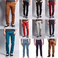 Victorious Men's Spandex Color Skinny Jeans Stretch Colored Pants   DL937-PART-1