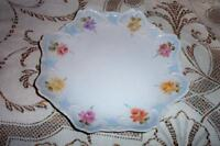 MCM HOLLYWOOD REGENCY ERA FRENCH CHIC UNIQUE HP ROSES LIMOGES PLATE SHABBY Unmk