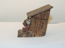 Wooden Carved Indian Box Black Forest over 3 inches tall (13018)