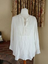 IVORY CREAM BEADED EMBROIDERED  BIB TUNIC TOP  FROM NEXT - SIZE 20 22  -SUMMER
