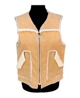 Ranch Wear Sherpa Vest Vintage Sherpa Vest Cowgirl Western Trucker Vest - Small