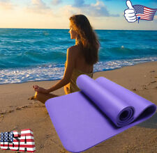 10MM Thick Non Slip Yoga Mat Exercise Fitness Lose Weight Pilate Gym Cushion Pad