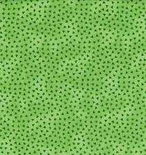 Topsy Turvy Bright Neon Lime Green Floral Polka Dot Child Baby Quilt Fabric