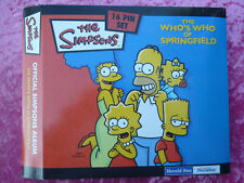 OFFICIAL SIMPSONS ALBUM WITH 16 PIN SET, COMPLETE, HERALD SUN