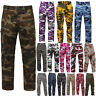 Tactical BDU Pants, Camo Cargo Uniform 6-Pocket, Camouflage Military Fatigues